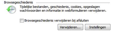 Internet Explorer 9 - Browsergeschiedenis automatisch verwijderen bij sluiten venster