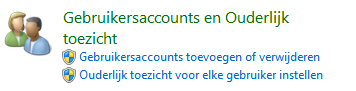 Ouderlijk toezicht in Windows 7