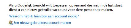 Ouderlijk toezicht - gebruikersaccount aanmaken in Windows 7