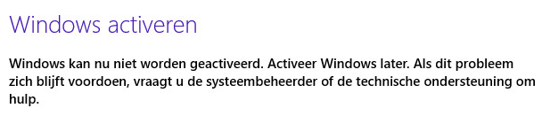 Windows 8 activeren - foutmelding - Tech-Notes.nl