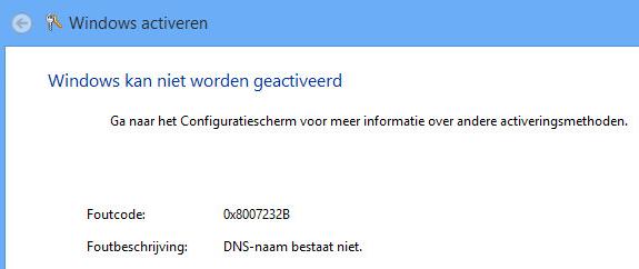 Windows 8 - Activatie foutmelding - Tech-Notes.nl